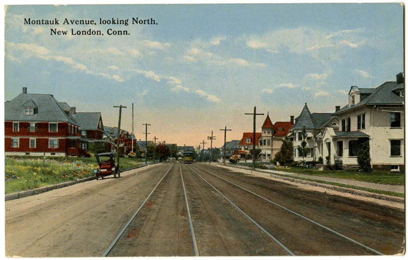 Montauk Avenue, Looking North, New London, Conn.