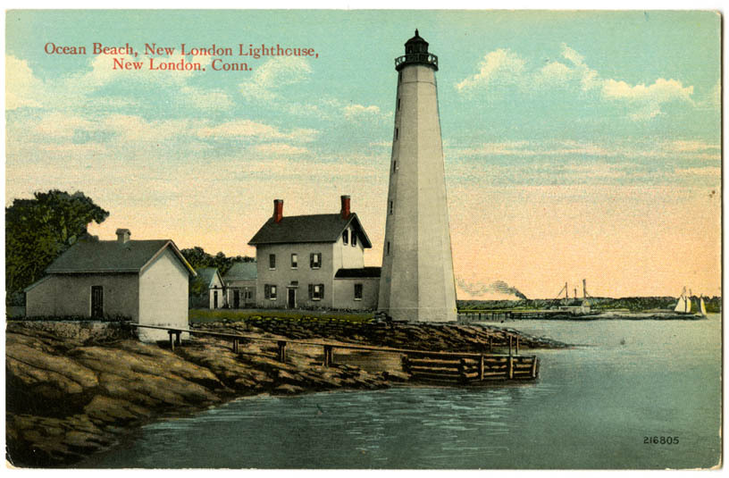Ocean Beach, New London Lighthouse, New London, Conn.