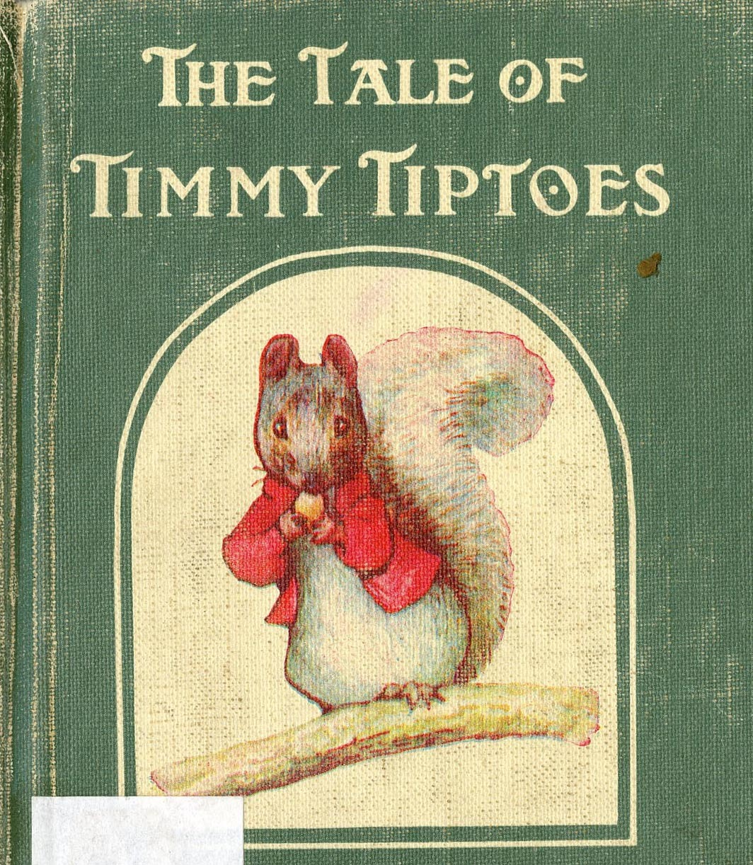 Interior illustration of Tale of Tommy Tiptoes