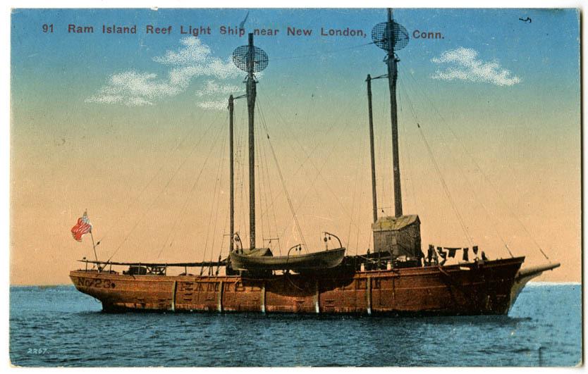 Ram Island Reef Lightship near New London, Conn.