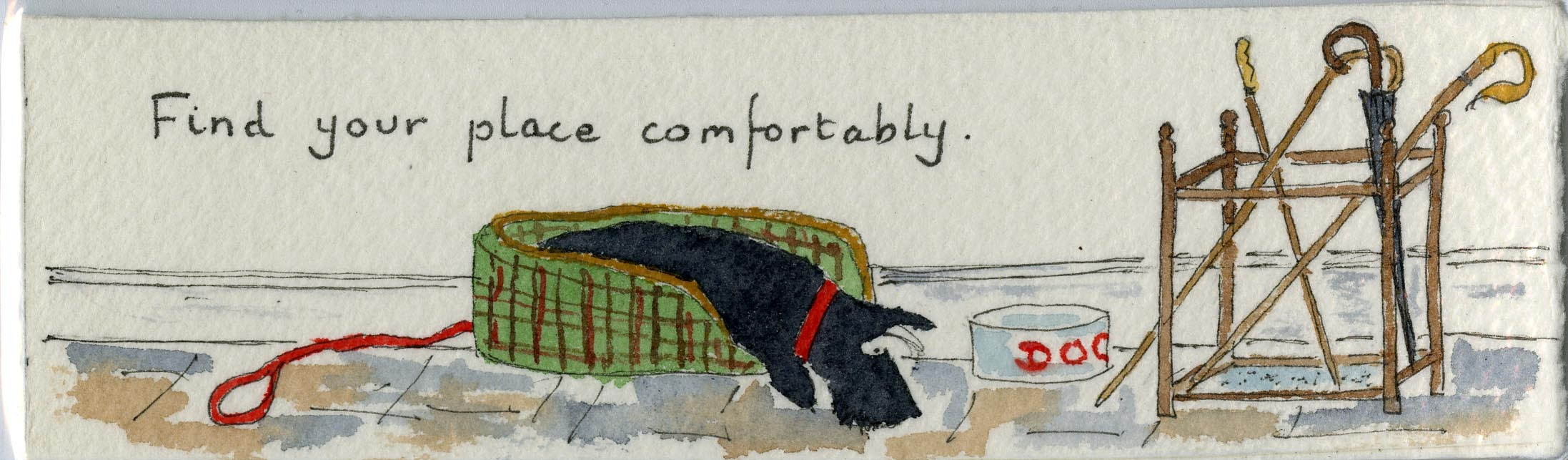 Find Your Place Comfortably bookmark