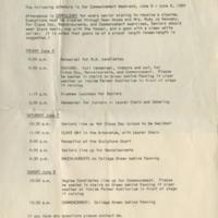 Graduation Rehearsal Schedule