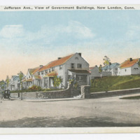 Jefferson Ave., View of Government Buildings, New London, Conn.