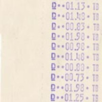 Connecticut College Bookshop Receipt