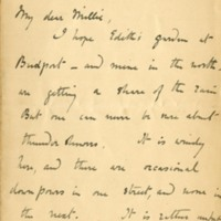 Letter from Beatrix Potter to Millie Warne, 2 Bolton Gardens [London]