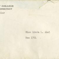 Letter to Linda Lee Abel from Bernice Wheeler