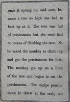 Page 5, Battle of the Monkey and the Crab